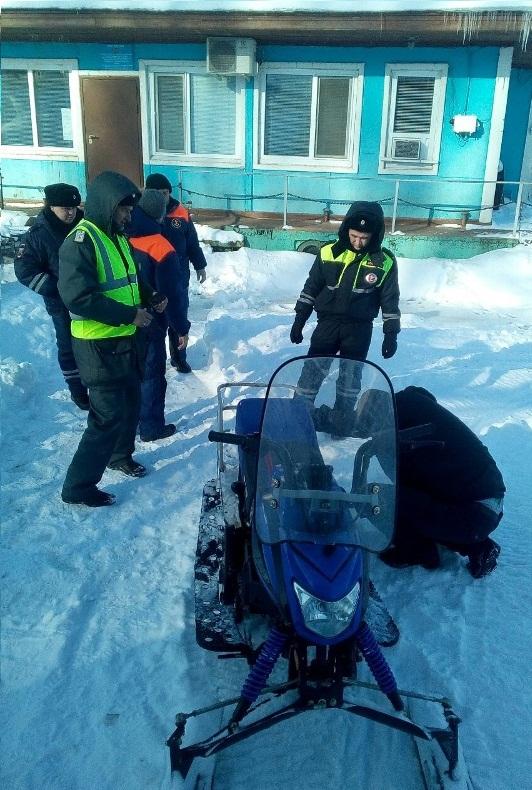 Проверка снегохода Гостехнадзор